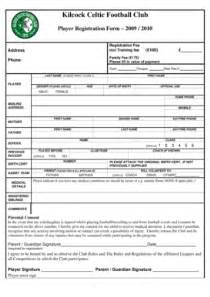 Football Registration Form Template football club form fill printable fillable blank pdffiller