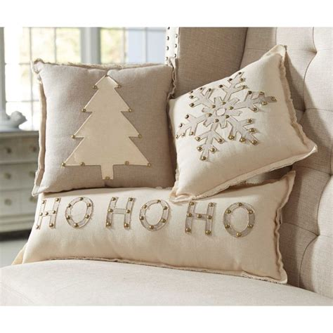 home design down pillow mud pie mh6 lodge christmas home decor studded holiday