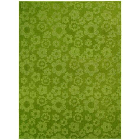 Garland Rug Flowers Lime 5 Ft X 7 Ft Area Rug Cl 16 Ra Lime Area Rug