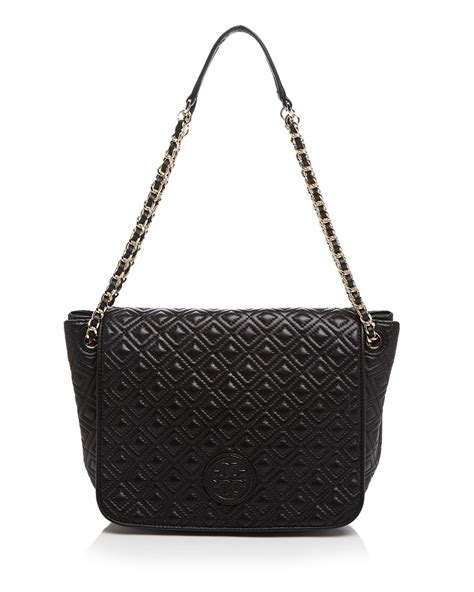 Tas Wanita Burch Quilted Shoulder Bag burch shoulder bag marion quilted small in black lyst