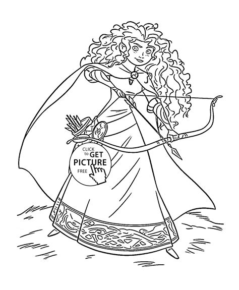 princess merida coloring page brave princess merida coloring page for kids disney