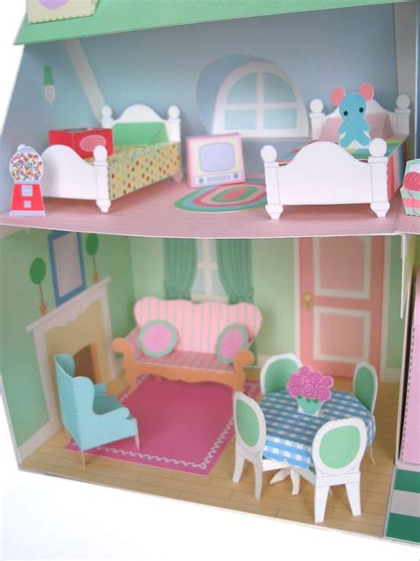 dollhouse furniture printable paper craft pdf by fantastictoys