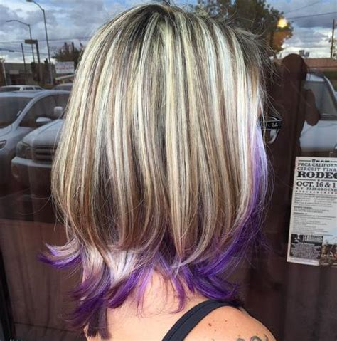 hair color pictures blonde purple lowlights blonde with purple highlights www pixshark com images
