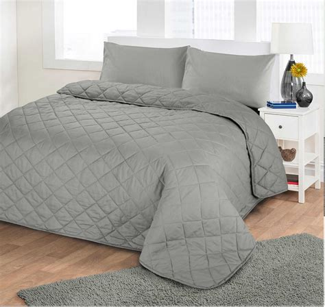 futon quilt luxury soft plain dyed polycotton quilted bedspread bed