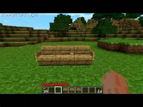 how to make couch in minecraft minecraft how to make a chair couch youtube
