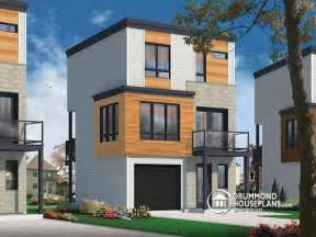 Narrow Lot Modern House Plans W1701 Contemporary 3 Floor House Design For Narrow Lot