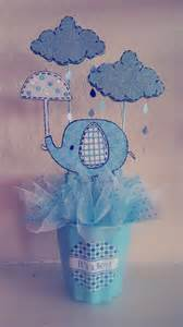 elephant quot umbrellaphant quot baby shower centerpiece