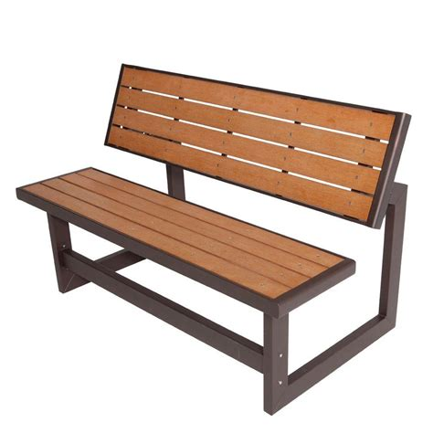 patio wood bench lifetime convertible patio bench 60054 the home depot