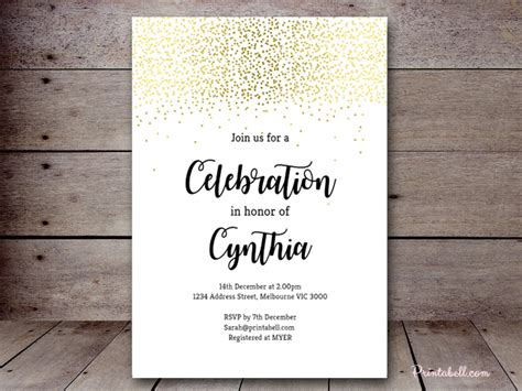 Editable Baby Shower Invitations Printabell Create White And Gold Invitation Templates