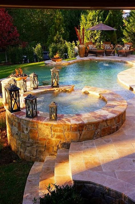 hot tub for backyard beautiful backyard pool hot tub outdoor pool pinterest