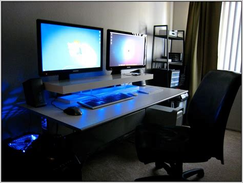 dual monitor desk setup dual monitor stand for desk download page home design