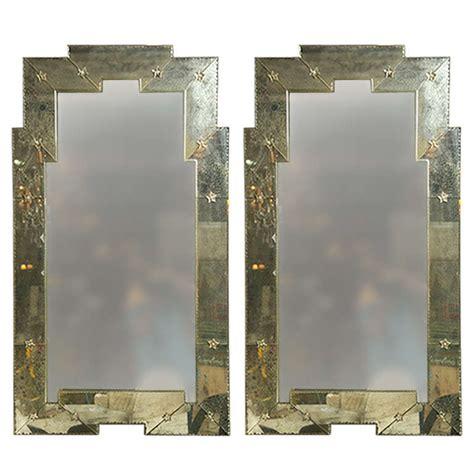venetian mirrored furniture art deco mirrors venetian compatible pair of quot art deco quot style distressed venetian