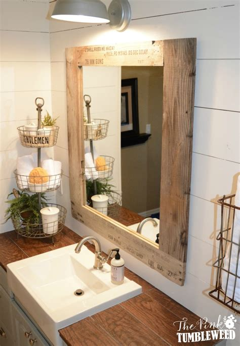 rustic vanity mirrors for bathroom rustic bathroom more country decor pinterest rustic