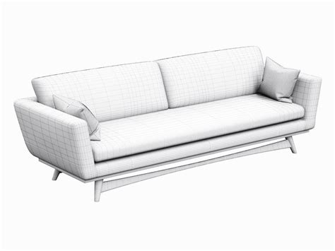 nordic design sofa sofa red edition scandinavian design 3d model game ready
