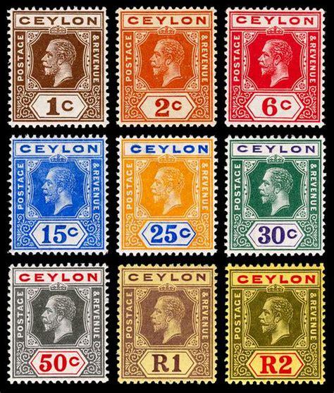 Ritka Set postage sts and postal history of sri lanka
