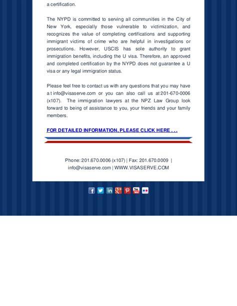 u visa supplement b new york city policy department proposed rule on u visa