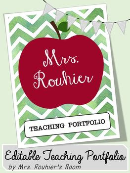 teaching portfolio template free editable teaching portfolio template apple by mrs