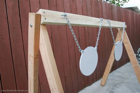 swinging target plans home made target stand my hubsy pinterest