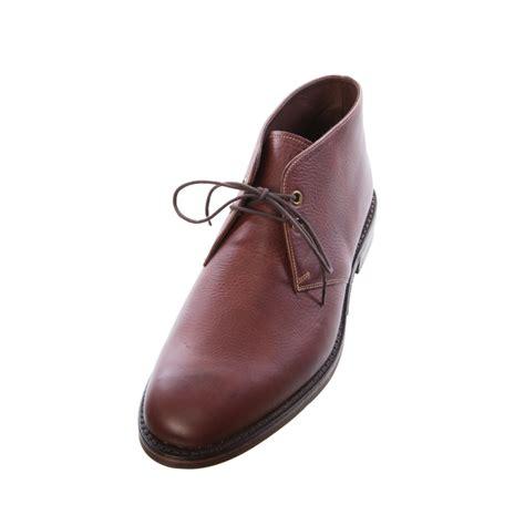 loake hexham brown grain leather dainite rubber sole boot