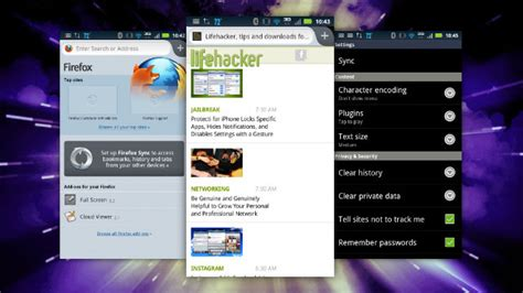 firefox android firefox for android update offers seriously speedy browsing bookmark syncing lifehacker australia