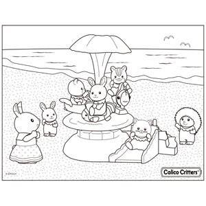 Coloring Calico Critters Calico Critters Coloring Pages