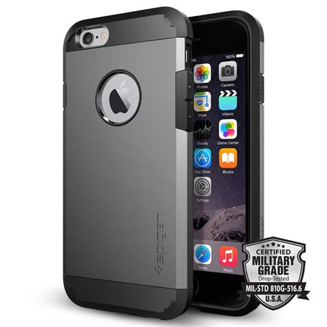 Spigen Shockproof Iphone 6 Plus Iphone6 Hardcase Iphone 6plus iphone 6 tough armor 4 7 iphone 6 apple iphone cell phone spigen