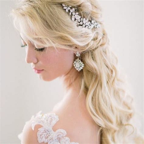 wedding hair half up half with tiara half up half wedding hairstyles 50 stylish ideas