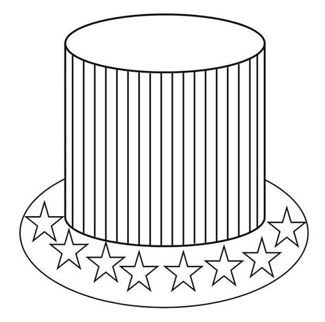 American Hat Coloring Page Free Printable Coloring Pages Usa Hat Coloring Pages Usa