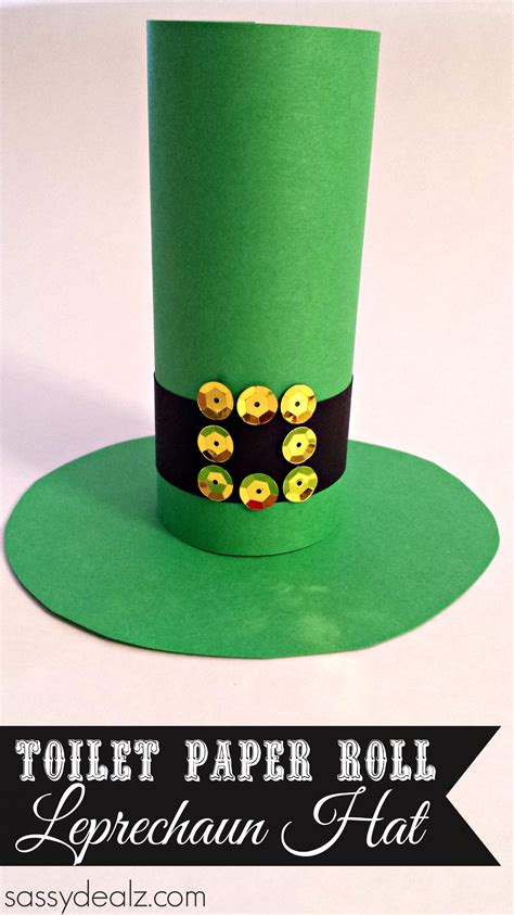 How To Make Out Of Toilet Paper Roll - leprechaun hat toilet paper roll craft for st s