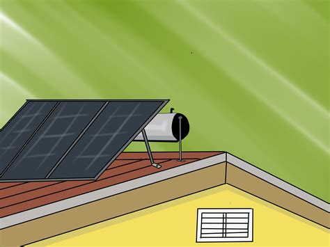 roof   solar space heater  steps