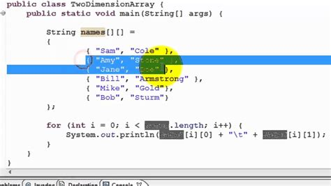 construct 2 array tutorial java tutorial two dimensional array youtube