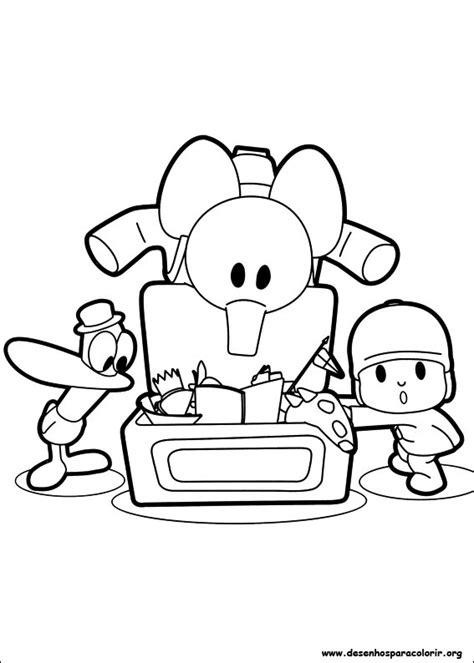 Guia Legal: 5 Desenhos do Pocoyo para colorir.