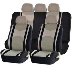 Seat Covers For Ford Fusion Beige Airbag Split Bench Seat Covers 9pc Set For Ford