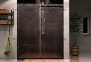 custom glass modern luxury frameless sliding shower door
