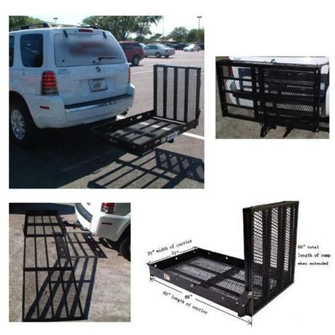 Wheelchair Rack Trailer Hitch by Large Wheelchair Scooter Carrier R Rack Trailer