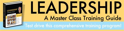 A Certification Guide preview the leadership a master class guide