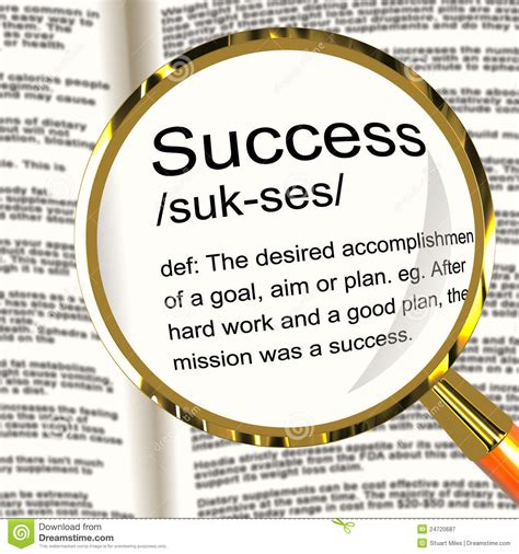 success definition magnifier showing achievements royalty free stock photography image 24720687