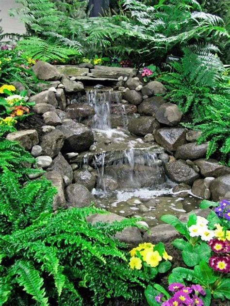 make backyard waterfall design your dream home with relaxing garden and backyard