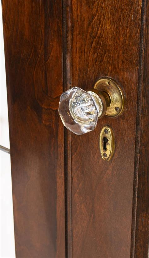 door knobs for french doors arts and crafts beveled glass french door set at 1stdibs