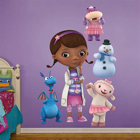doc mcstuffins wall decor doc mcstuffins collection wall decal shop fathead 174 for