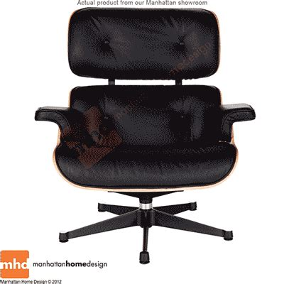 Vitra Lounge Chair Replica by Eames Lounge Chair Replica Vitra Black Manhattan Home Design