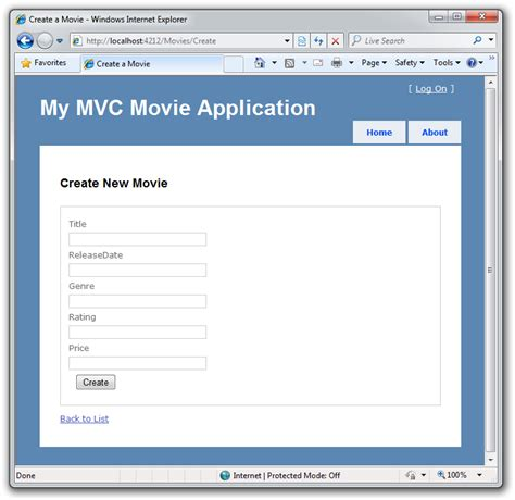 mvc pattern web application exle intro to asp net mvc microsoft docs
