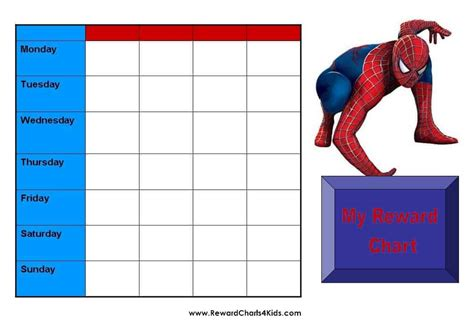 weekly potty training star chart boys pdf