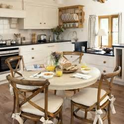 country style family kitchen with round table family