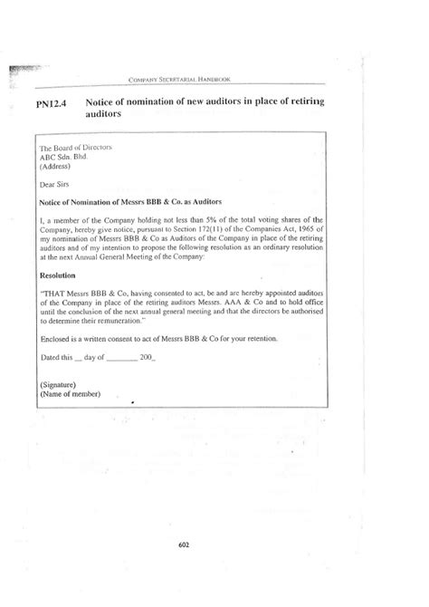 appointment letter auditor sle consent letter format for appointment of auditor 28