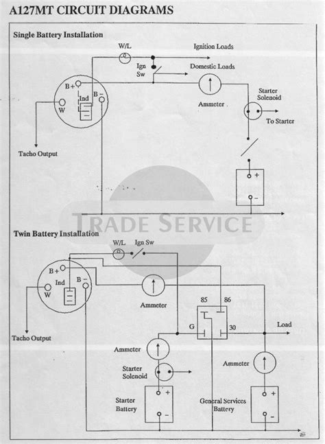 marine alternator wiring diagram ewiring