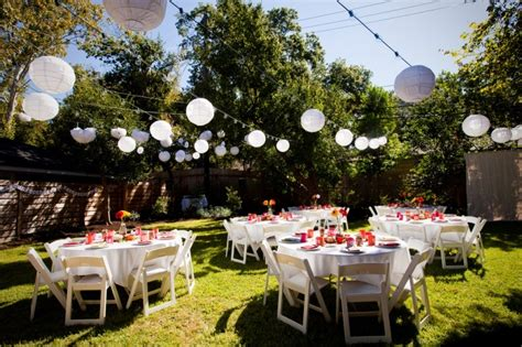 outside party 6 simple tips for brides to plan your diy backyard wedding