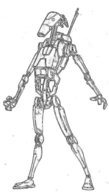 star wars droid coloring page battle droid colouring pages