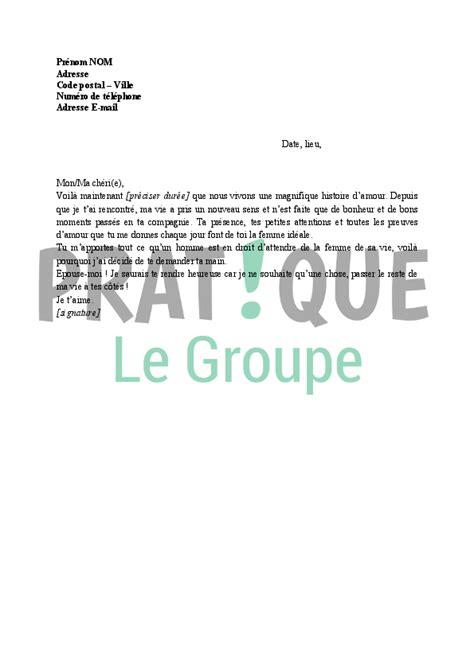 Demande De Mariage En Lettre lettre demande en mariage pratique fr