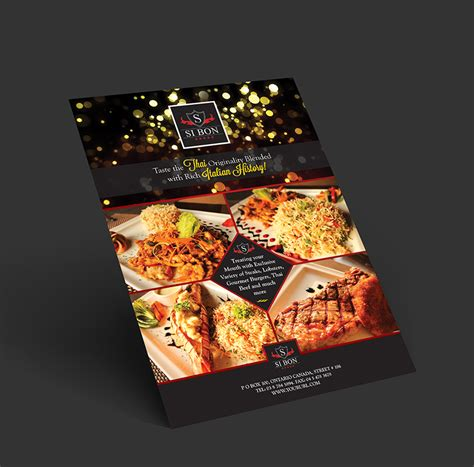 design flyer for restaurant hotel restaurant flyer design template one dollar graphics